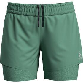 Odlo Millennium Pro 2-i-1 shorts Damer, creme de menthe